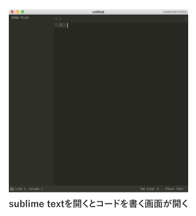 sublime textを開く