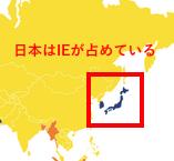 日本はIEが占めている
