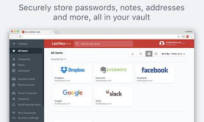 各サービスのパスワードを管理したり