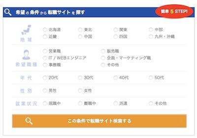 検索フォームの例