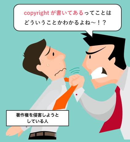copyrightを明記することで著作権の侵害を抑制する