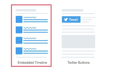 Embedded Timelineを選択